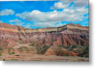 Painted Desert Metal Print by Charlotte Schafer