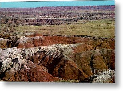 Painted Desert In Arizona Metal Print by Ruth  Housley