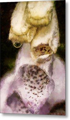 Painted Droplets Metal Print by Cameron Wood