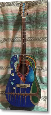 Painted Guitar Metal Print