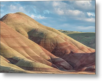Metal Print featuring the photograph Painted Hill And Clouds by Greg Nyquist