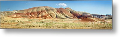 Painted Hills Pano 1 Metal Print by Jerry Fornarotto