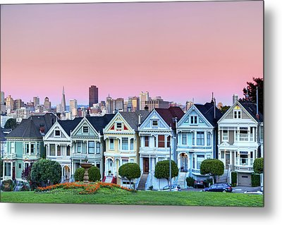 Painted Ladies At Dusk Metal Print by Photo by Jim Boud