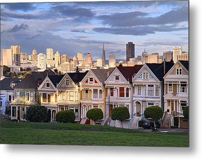 Painted Ladies In Sf California Metal Print