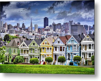 Painted Ladies Of San Francisco  Metal Print