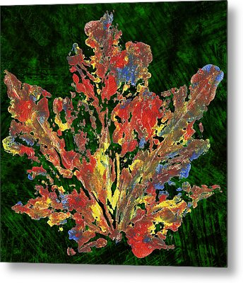 Metal Print featuring the painting Painted Nature 1 by Sami Tiainen