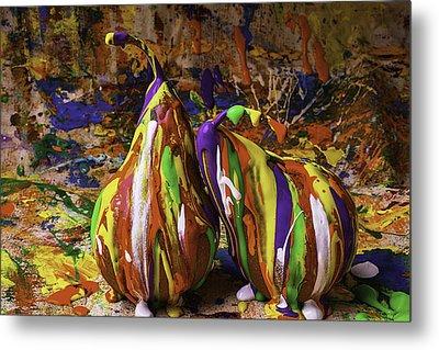 Painted Pears Metal Print