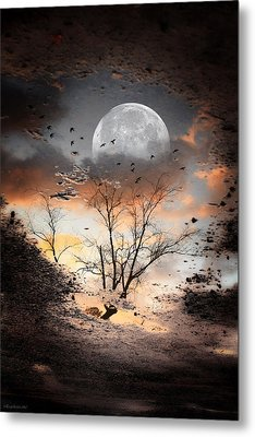 Painted Puddle Metal Print