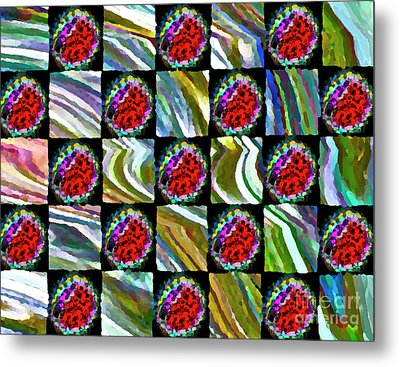 Painted Quilt Metal Print by Gwyn Newcombe