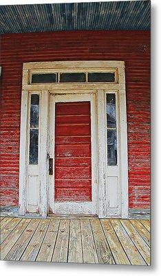 Painted Red Metal Print by Lynn Jordan