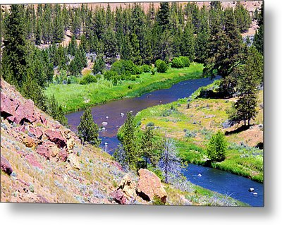 Metal Print featuring the photograph Painted River by Jonny D