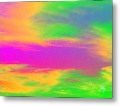 Metal Print featuring the photograph Painted Sky by Linda Hollis