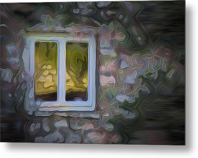Painted Window Metal Print