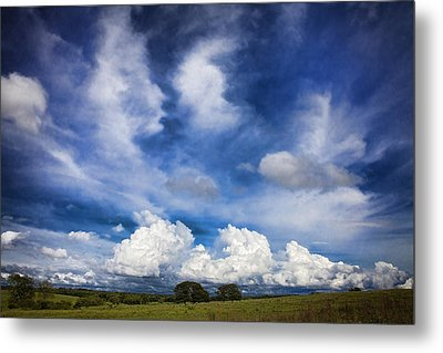 Painterly Sky Over Oklahoma Metal Print