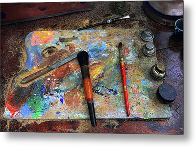 Metal Print featuring the photograph Painter's Palette by Jessica Jenney
