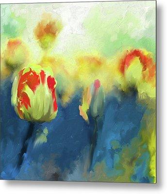 Painting 385 3 Pink Tulip Metal Print