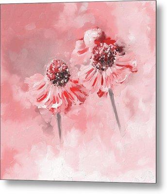 Painting 390 2 Twin Flowers Metal Print