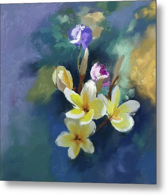 Painting 392 1 Yellow Blossoms Metal Print