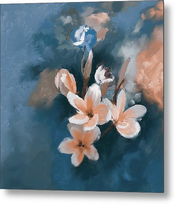 Painting 392 3 Yellow Blossoms Metal Print