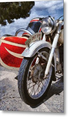 Painting Of A 1951 Puch 250 Tf Bj Metal Print