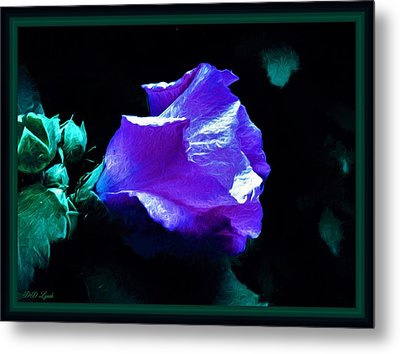 Painting Of The Hibiscus Metal Print by Debra Lynch