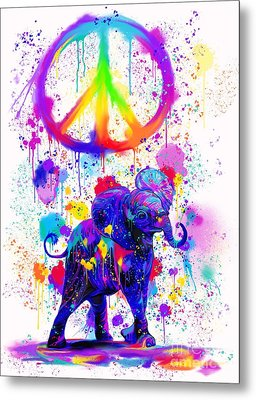 Painting Peace Too Metal Print by Nick Gustafson