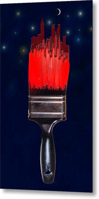 Painting The Town Red Metal Print by Jane Schnetlage