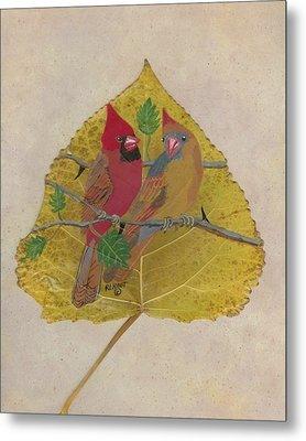 Pair Of Cardinals Metal Print by Ralph Root