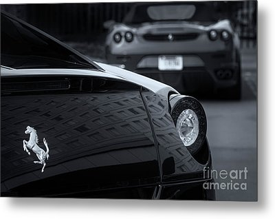 Metal Print featuring the photograph Pair Of Ferraris 2 by Dennis Hedberg
