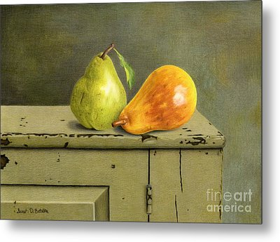 Pair Of Pears Metal Print by Sarah Batalka