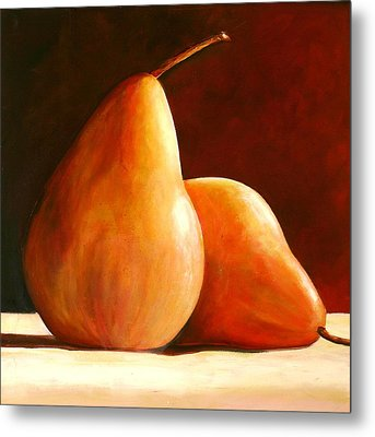 Pair Of Pears Metal Print by Toni Grote