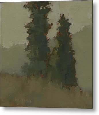 Pair Of Trees Metal Print