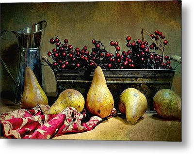 Pairs Of Pears Metal Print by Diana Angstadt