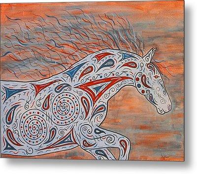 Paisley Spirit Metal Print by Susie WEBER