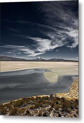 Sajama In The Distance Metal Print by Ron Dubin
