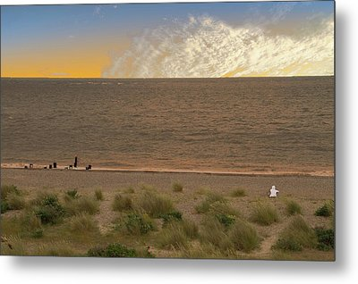 Pakefield Beach Sunset Metal Print by David French