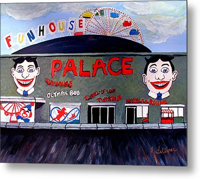 Palace Amusements Asbury Park Nj Metal Print by Norma Tolliver