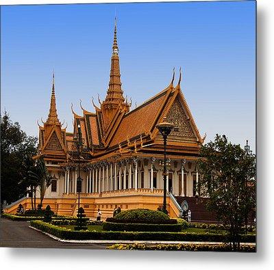 Palace At Phnom Phen Metal Print