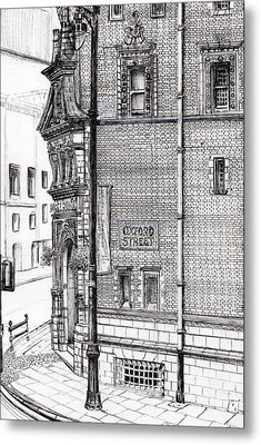 Palace Hotel Oxford Street Manchester Metal Print