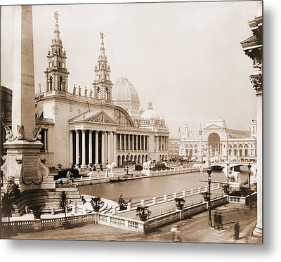 Palace Of Mechanic Arts And Lagoon Metal Print by Everett