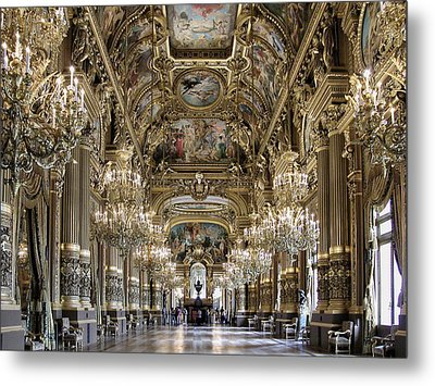 Palais Garnier Grand Foyer Metal Print