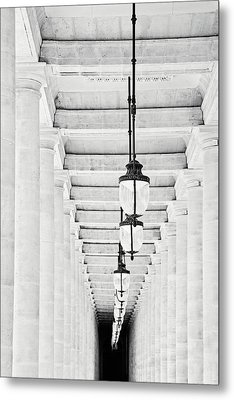 Palais-royal Arcade Black And White - Paris, France Metal Print by Melanie Alexandra Price