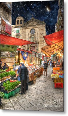 Palermo Market Place Metal Print by Juli Scalzi
