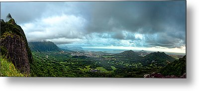 Metal Print featuring the photograph Pali Lookout Dawn by Dan McManus