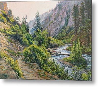 Metal Print featuring the painting Palisades Creek  by Steve Spencer
