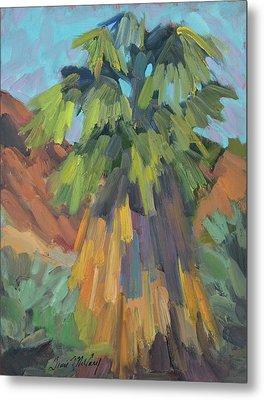 Palm At Santa Rosa Mountains Visitors Center Metal Print