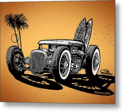 Palm Beach Metal Print by Bomonster