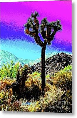 Palm Desert Cactus Metal Print by Larry Oskin
