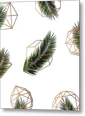 Palm Geometry Metal Print