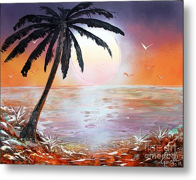 Palm Metal Print by Greg Moores